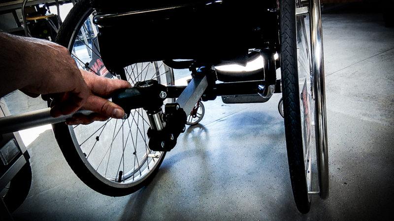 Erfindung für Rollstuhlfahrer (Foto: SAT.1 NRW)