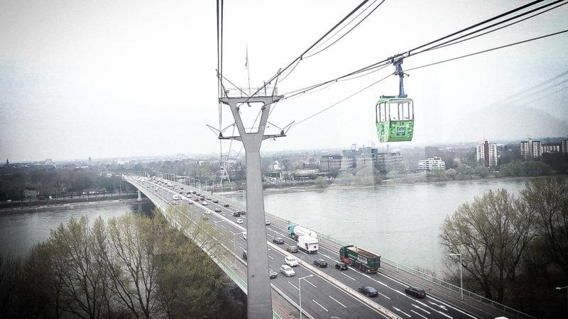 Kölner Seilbahn fährt wieder (Foto: SAT.1 NRW)