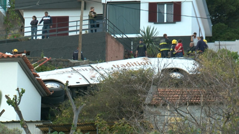Busunfall auf Madeira (Foto: SAT.1 NRW)