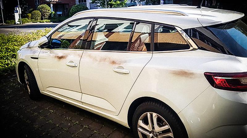 Angriff auf Uber-Autos (Foto: SAT.1 NRW)