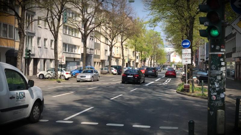 Umweltspur in Düsseldorf (Foto: SAT.1 NRW)