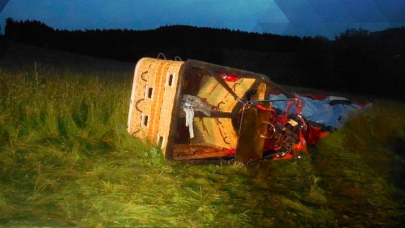 Heißluftballon verunglückt im Sauerland (Foto: SAT.1 NRW)