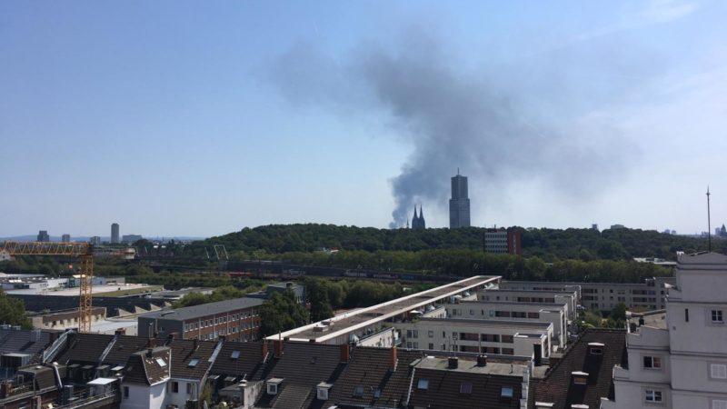 Feuer in Köln (Foto: SAT.1 NRW)