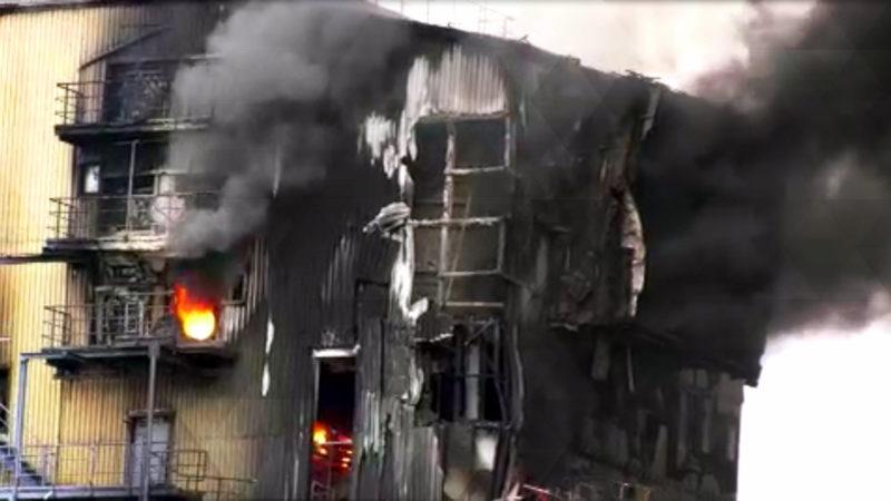 Großbrand schockt Porta Westfalica (Foto: SAT.1 NRW)