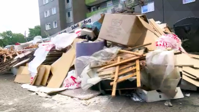 Müllstreit in Gelsenkirchen (Foto: SAT.1 NRW)