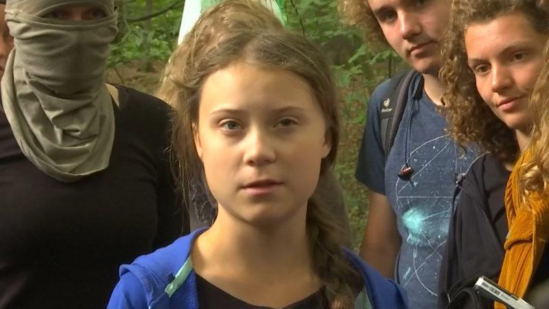 Greta Thunberg im Hambacher Forst (Foto: SAT.1 NRW)
