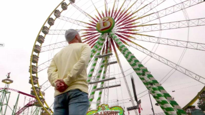 Im Riesenrad mit Oli P. (Foto: SAT.1 NRW)