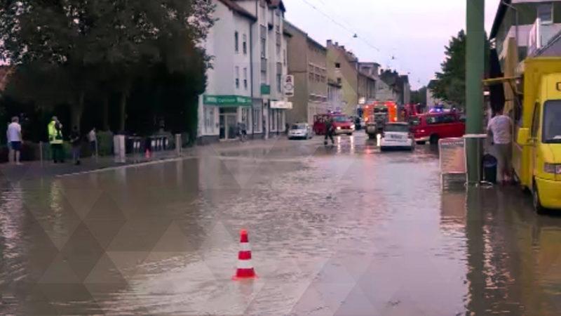 Ausnahmezustand nach Wasserrohrbruch (Foto: SAT.1 NRW)