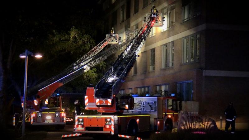 Brand im Krankenhaus (Foto: SAT.1 NRW)