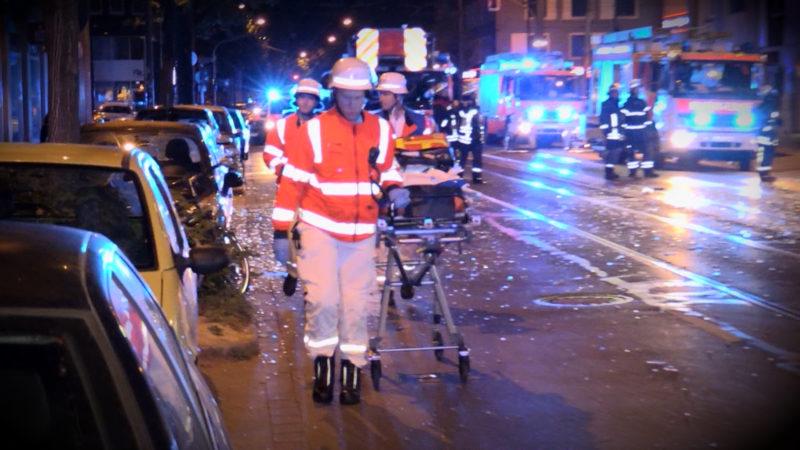 Explosion in Düsseldorf (Foto: SAT.1 NRW)