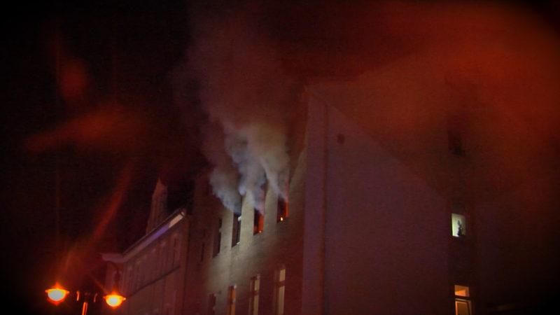 Feuer in Herne (Foto: SAT.1 NRW)