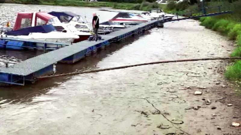 Weser ohne Wasser (Foto: SAT.1 NRW)