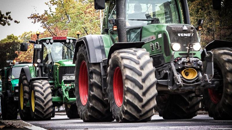 Zehntausende Landwirte demonstrieren (Foto: SAT.1 NRW)