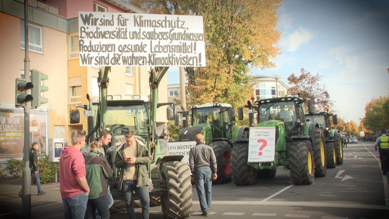 Landwirte wollen protestieren (Foto: SAT.1 NRW)