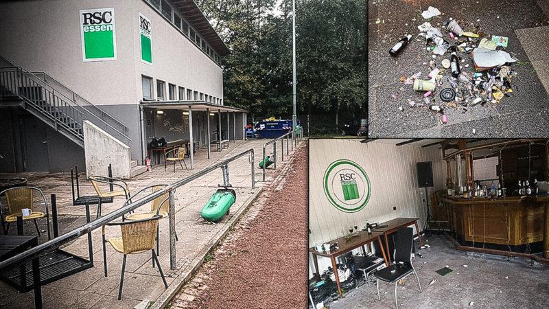 Fußballplatz verwüstet (Foto: SAT.1 NRW)