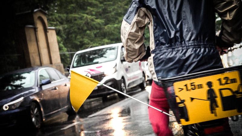 Abstandshalter für Fahrräder (Foto: SAT.1 NRW)