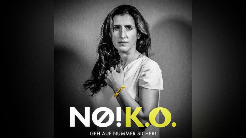 Plakataktion von KO-Tropfen-Opfer (Foto: SAT.1 NRW)