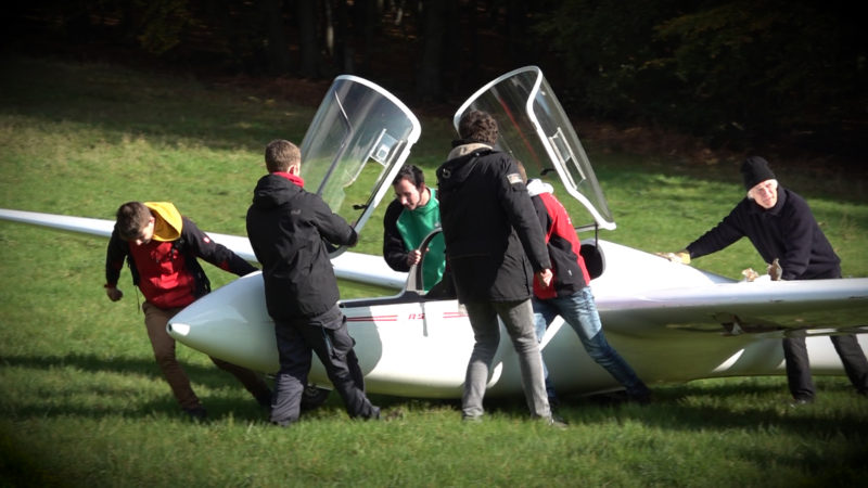 Segelflieger geborgen (Foto: SAT.1 NRW)