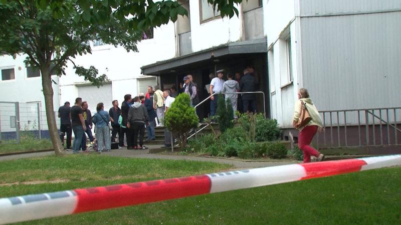 Streit um Hochhausevakuierung (Foto: SAT.1 NRW)