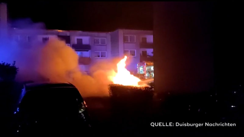 Feuerteufel in Duisburg (Foto: SAT.1 NRW)
