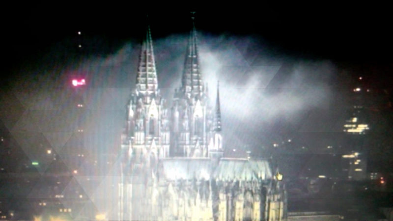 Falscher Feueralarm am Dom (Foto: SAT.1 NRW)