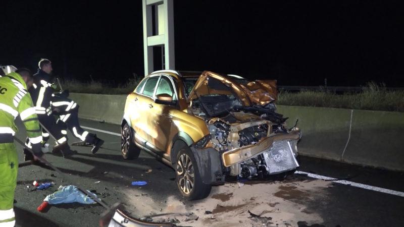 Massen-Crash auf A2 (Foto: SAT.1 NRW)