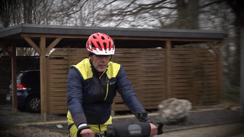 Mann radelt nach Herzinfarkt für guten Zweck (Foto: SAT.1 NRW)