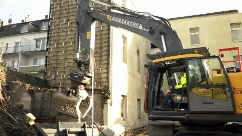 Abgesacktes Haus wird abgerissen (Foto: SAT.1 NRW)