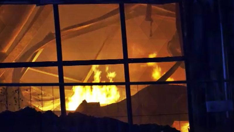 Gewürzfabrik in Flammen (Foto: SAT.1 NRW)