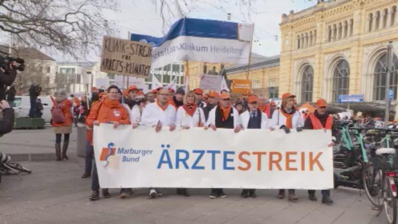 Bundesweiter Ärztestreik (Foto: SAT.1 NRW)
