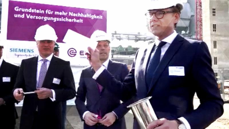 Grundsteinlegung für Turbinenkraftwerk (Foto: SAT.1 NRW)