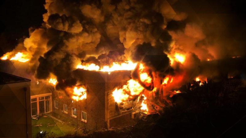 Großbrand in Hagen (Foto: SAT.1 NRW)