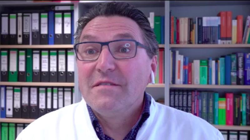 Virologe Prof. Stephan Ludwig zur Corona-Gefahr (Foto: SAT.1 NRW)