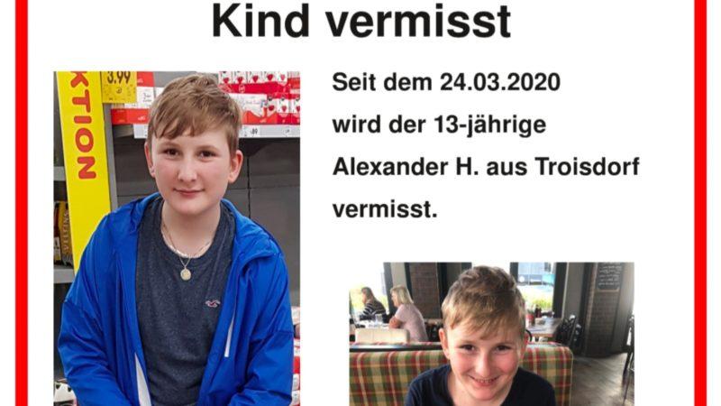 13-Jähriger Alexander vermisst (Foto: SAT.1 NRW)