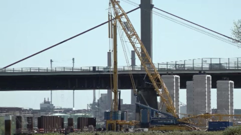 Bau-Verzögerung der Rheinbrücke Leverkusen (Foto: SAT.1 NRW)