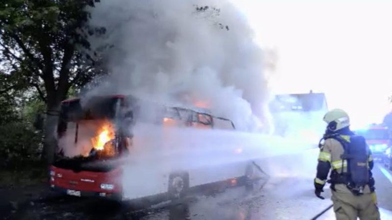 Busbrand in Hilden (Foto: SAT.1 NRW)