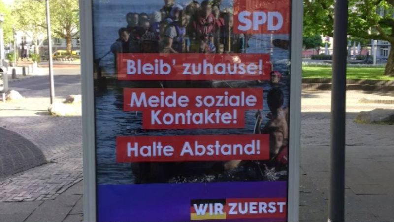 Strafanzeige für gefälschte Plakate (Foto: SAT.1 NRW)