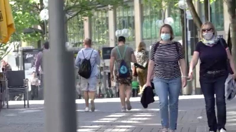 Allgemeine Maskenpflicht in Düsseldorf (Foto: SAT.1 NRW)