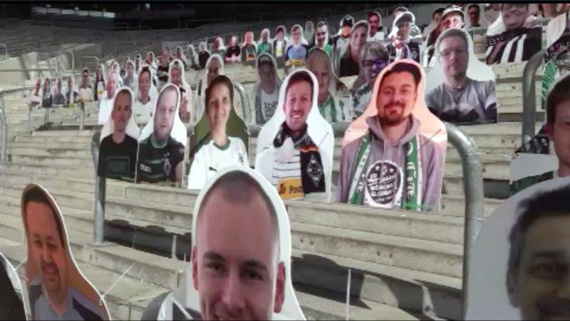 Papp-Fans im Borussia-Park (Foto: SAT.1 NRW)