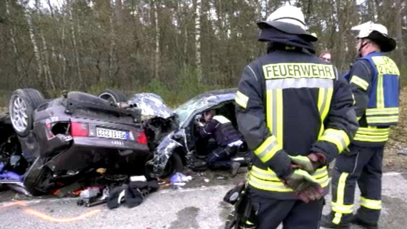 Schwerer Unfall in Lippe (Foto: SAT.1 NRW)