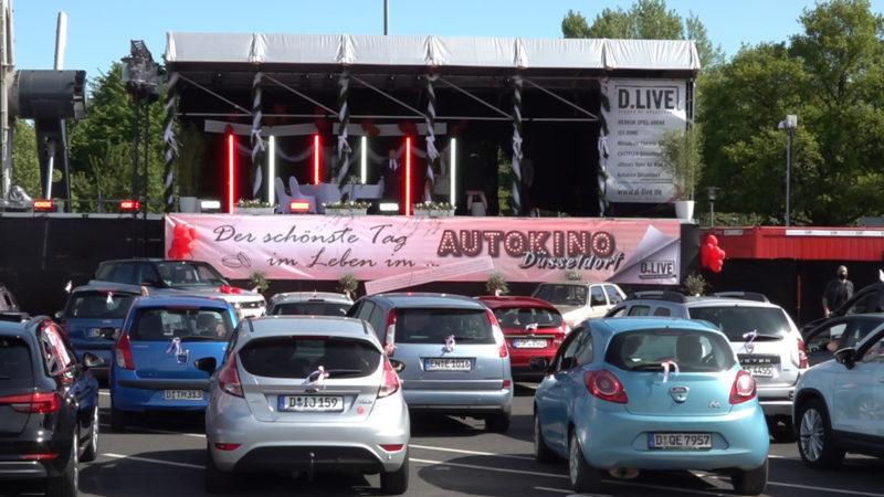 Hochzeit im Autokino (Foto: SAT.1 NRW)