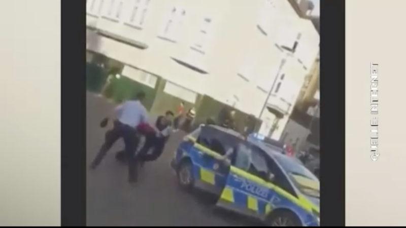 200 Personen behindern Polizeieinsatz (Foto: SAT.1 NRW)