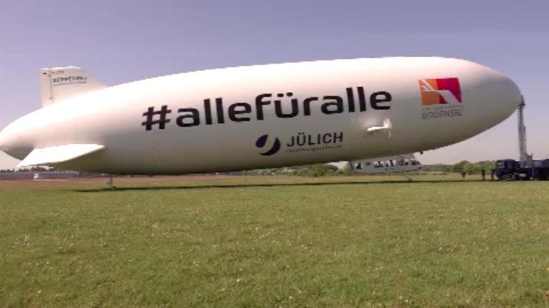Corona-Forschung mit Zeppelin (Foto: SAT.1 NRW)