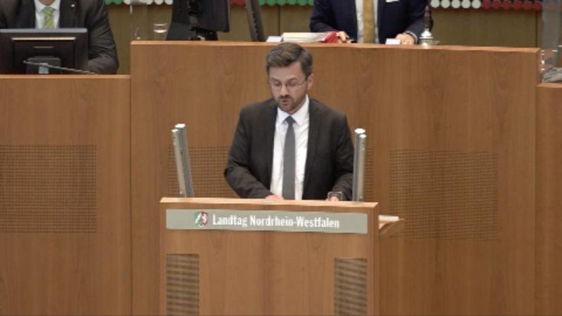 Diskussion im Landtag: Zu lange gewartet mit dem Lockdown? (Foto: SAT.1 NRW)