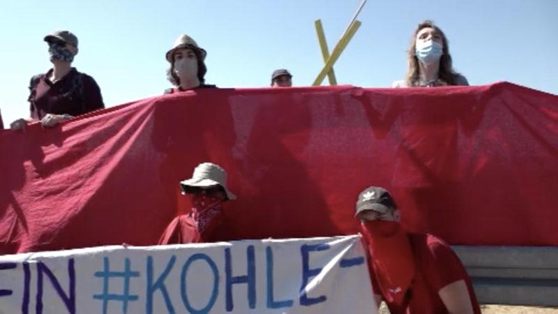 80 Protestanten besetzen Garzweiler Kohlebagger (Foto: SAT.1 NRW)
