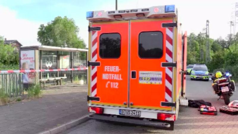 Mann verbrennt in Düsseldorf (Foto: SAT.1 NRW)