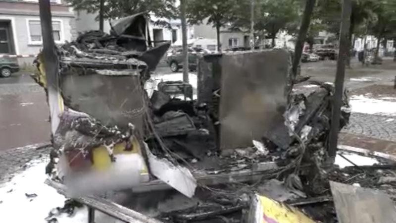 Imbisswagen explodiert (Foto: SAT.1 NRW)