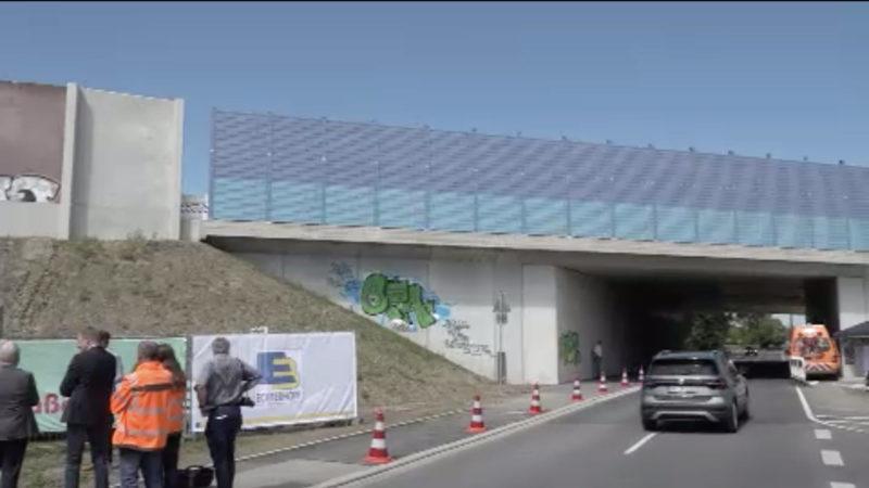 A1 Autobahnbrücke fertig gebaut (Foto: SAT.1 NRW)