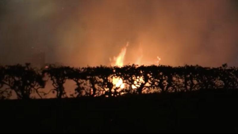 Feuer im Biergarten (Foto: SAT.1 NRW)