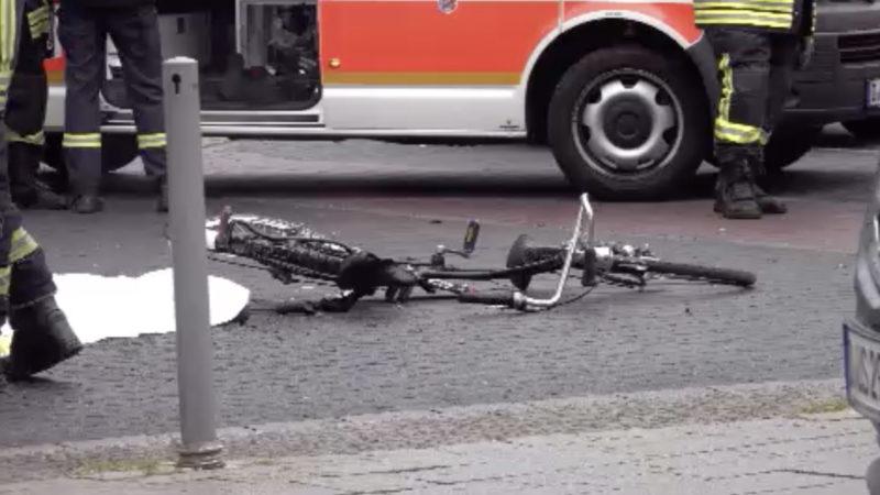 Fahrrad-Crash in Düsseldorf (Foto: SAT.1 NRW)